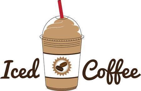 Have an iced coffee for your kitchen dcor.