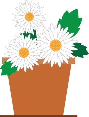 Beautiful flowers are a wonderful accent to any project. Illustration