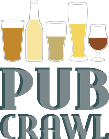 If your in party mood and wants to make new friends then signed up to Pubcrawl.  イラスト・ベクター素材