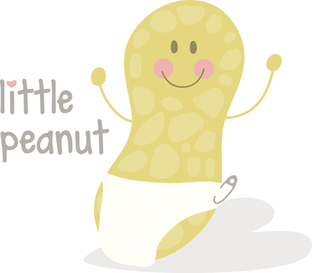 cuddly baby: Top up your desserts with this cute and cuddly baby Peanuts and enjoy the deliciousness designed by Embroidery patterns!