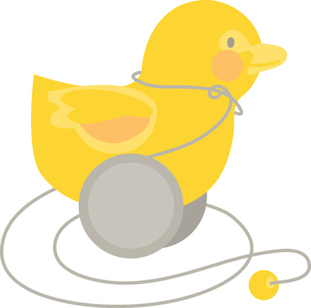 duckie: Quack Quack! Qwazy Qwackers! A much loved classic ideal first toy for your little one! Make your little one happy with this image by Embroidery patterns. Illustration