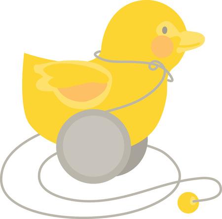 pull toy: Quack Quack! Qwazy Qwackers! Un cl�sico ideales primer juguete muy querido para su peque�o! Haz tu peque�o feliz con esta imagen por patrones de bordado.