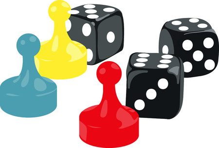 Board game players will like these game pieces.