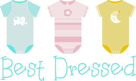 Baby will be cute and comfy in Onesies. Shop this fashionable cloths to your baby designed by Embroidery patterns!