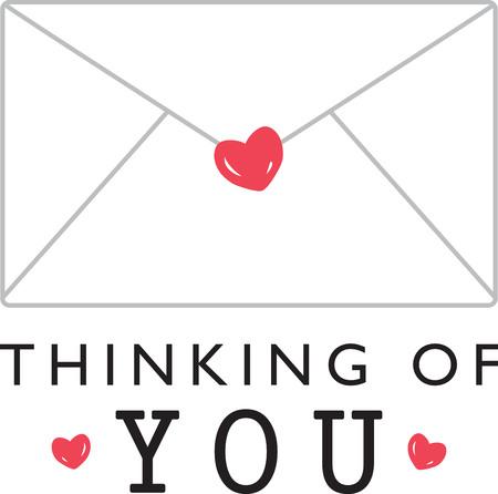 Er is liefde in de lucht! Stel uw harten aflutter met dit ontwerp op uw vakantieprojecten! Stock Illustratie