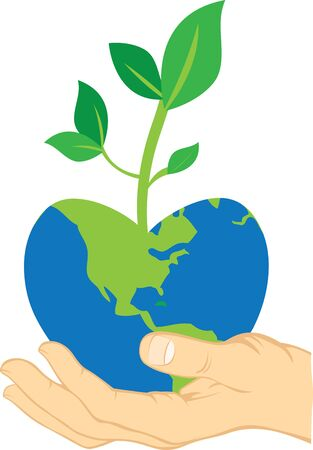 either: If we do not permit the Earth to produce beauty and joy, it will in the end doesnt produce the food either. So, love and protect the Earth. Illustration