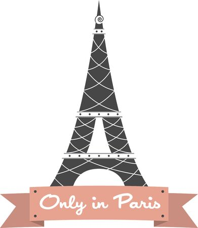 Remember the fun trip to Paris with this design of the Eiffel Tower.  Perfect on a shirt.