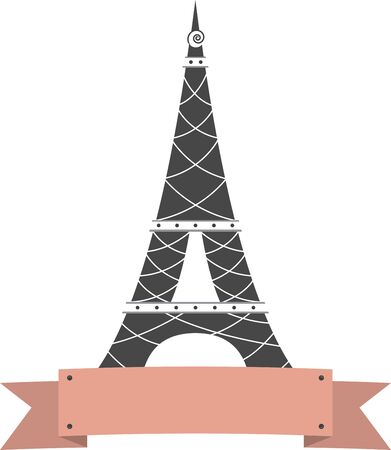 Remember the fun trip to Paris with this design of the Eiffel Tower.  Perfect on a shirt. Reklamní fotografie - 43007220