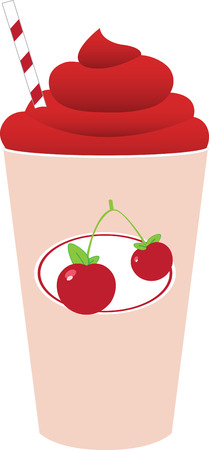 slushy: Set the mood for the whole day with a Cherry Good family breakfast with this design by embroidery patterns. Illustration