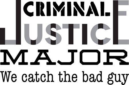 刑事正義の大学生のためのこのユーモラスな主要な設計を使用します。