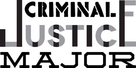 Use this humorous major design for a criminal justice college student.