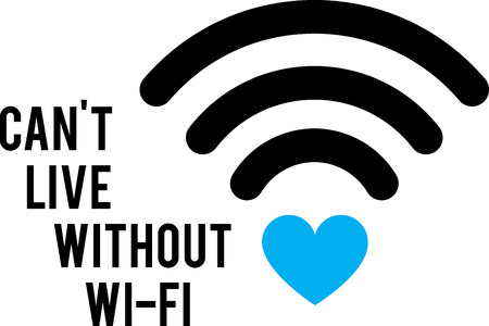 Home is where the wifi connects automatically!  This design is perfect on gifts for your internet addicts!