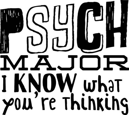 humorous: Use this humorous major design for a psychology college student. Illustration