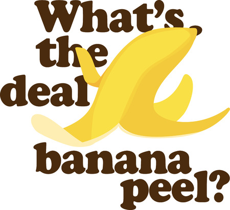 peel: Show off your silly side with a funny banana peel.