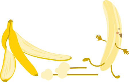 Show off your silly side with a funny banana peel.