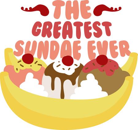 Un délicieux banana split aura fière allure dans toute cuisine. Banque d'images - 42995910