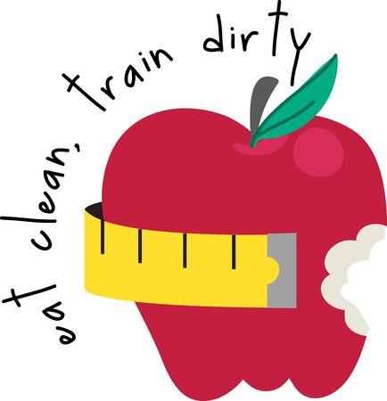 このりんごをあなたの食事療法にいくつかのインスピレーションをもたらします。 エプロンやタオルに追加します。 写真素材 - 42995927