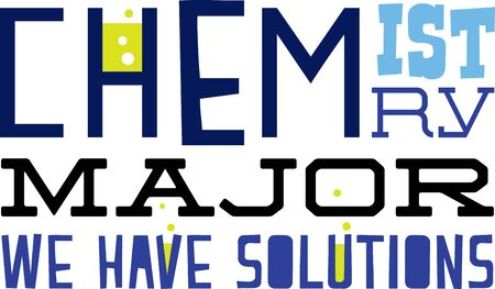 Use this humorous major design for a chemistry college student. Фото со стока - 42995923
