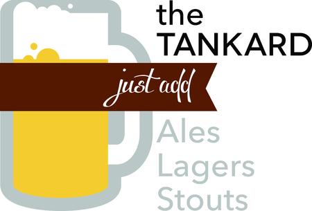 Use this large drinking Tankard Mug design on your T-Shirt design.