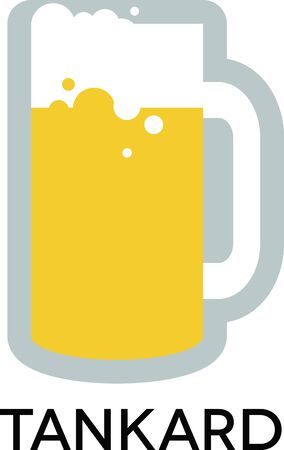 tankard: Use this large drinking Tankard Mug design on your T-Shirt design.