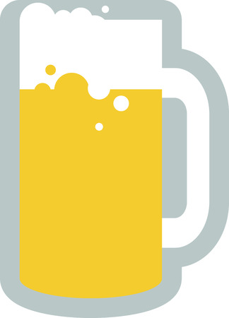 Use this large drinking Tankard Mug design on your T-Shirt design.