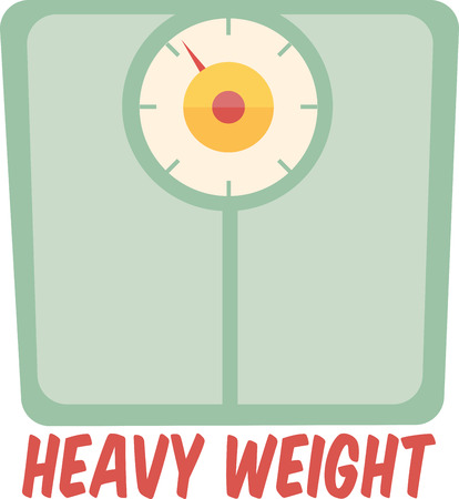 Bring some inspiration to your diet with this weight scale.  Add to an apron or a towel.