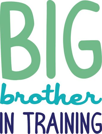 This design is a great gift idea for the proud new big brother on t-shirts and sweatshirts! Illusztráció