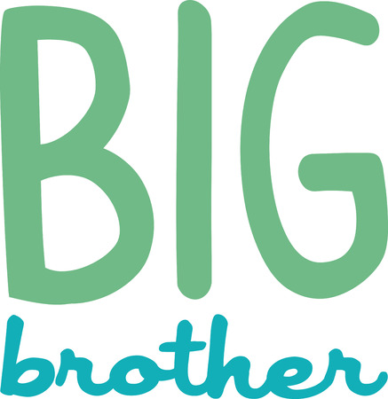 This design is a great gift idea for the proud new big brother on t-shirts and sweatshirts! Çizim
