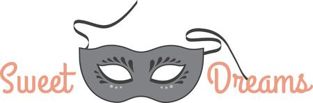 These seductive masks provide a subtle disguise Stock Illustratie