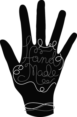 Put a pretty label on your projects so everyone knows it is handmade. Ilustração