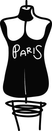 costurera: Esta forma de vestir es el ajuste perfecto y perfecto para los proyectos para su costurera favorito! Vectores