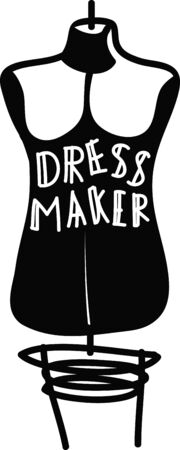 This dress form is the perfect fit and perfect for projects for your favorite seamstress! Ilustração
