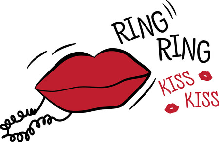 pucker: A trendy and classy lips and phone design, perfect embellishment for all your fashion gear.