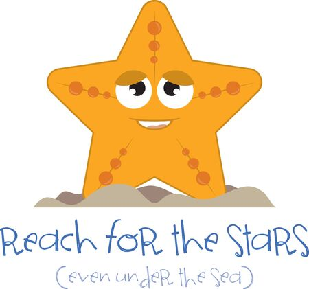 bibs: Cartoon starfish. Kids love googly eyes and sea creatures.  Get this whimsical design on bodysuits, layettes, diaper covers, baby t-shirts, hats, bibs  more! Illustration