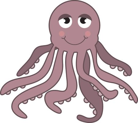 googly: Cartoon octopus. Kids love googly eyes and sea creatures. Get this whimsical design on bodysuits, layettes, diaper covers, baby t-shirts, hats, bibs  more!
