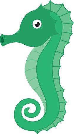 pinniped: Cartoon seahorse. Saddle up for a close encounter with the seas most captivating creatures with this design on your home projects.