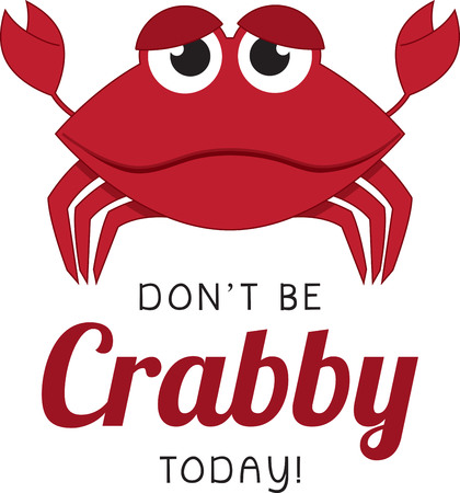 googly: Cartoon crab. Kids love googly eyes and sea creatures.  Get this whimsical design on bodysuits, layettes, diaper covers, baby t-shirts, hats, bibs  more!