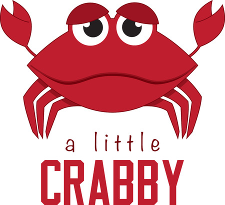 marine crustaceans: Cartoon crab. Kids love googly eyes and sea creatures.  Get this whimsical design on bodysuits, layettes, diaper covers, baby t-shirts, hats, bibs  more!