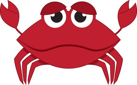Cartoon crab. Kids love googly eyes and sea creatures.  Get this whimsical design on bodysuits, layettes, diaper covers, baby t-shirts, hats, bibs  more!