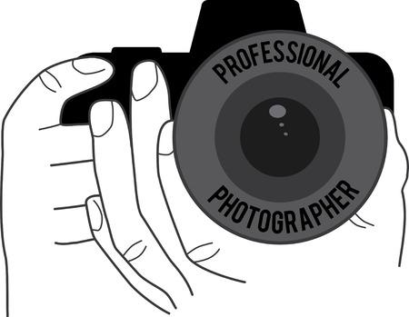 Hands holding camera