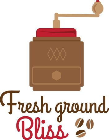 grinder: coffee grinder Illustration
