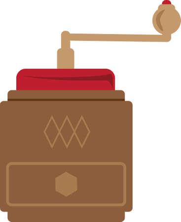 coffee grinder Ilustracja
