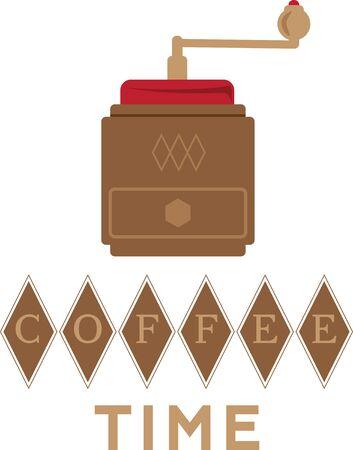 molinillo: Diseño simple con molinillo de café