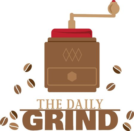 Simple design with coffee grinder Ilustrace