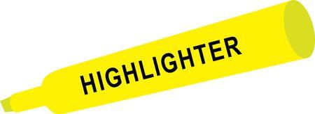 highlighter: yellow highlighter Illustration