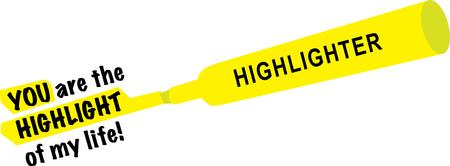 노란색 형광펜을 사용한 심플한 디자인