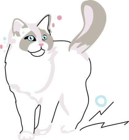 Illustration of cat  Illusztráció