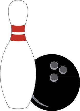 Bowlen en duckpin. Stock Illustratie