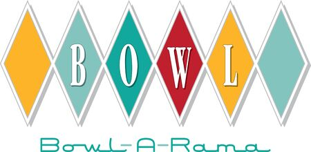 Simple design of bowl. Sports fans will love this design on a t-shirt. Ilustracja