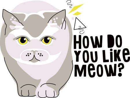 british pussy: Illustration of cat  Illustration